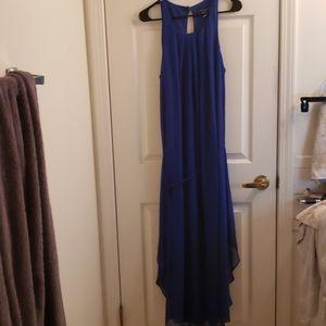 Rebecca B. Full Length Blue Dress Size 12